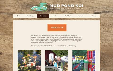 Screenshot of Products Page mudpondkoi.com - mud-pond-koi | Products - captured April 13, 2017
