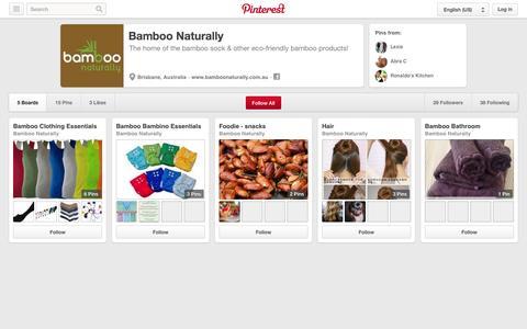 Screenshot of Pinterest Page pinterest.com - Bamboo Naturally on Pinterest - captured Oct. 23, 2014