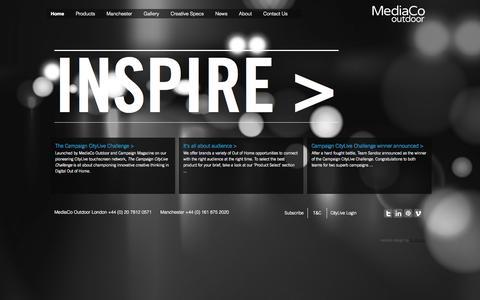 Screenshot of Home Page mediacooutdoor.co.uk - Home | MediaCo Outdoor - captured Jan. 21, 2015