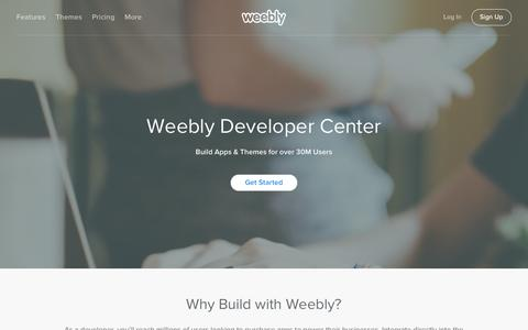 Screenshot of Developers Page weebly.com - Weebly Website Builder: Create a Free Website, Store or Blog - captured Nov. 17, 2015