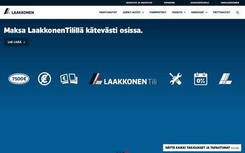 Screenshot of Home Page laakkonen.fi - Etusivu | Laakkonen - captured Nov. 9, 2018