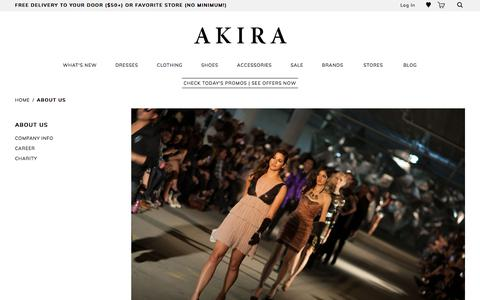 Screenshot of About Page shopakira.com - About Us - captured Sept. 29, 2017