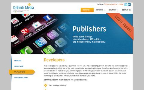 Screenshot of Developers Page definitimedia.com - Developers - Definiti MediaDefiniti Media - captured Sept. 24, 2014