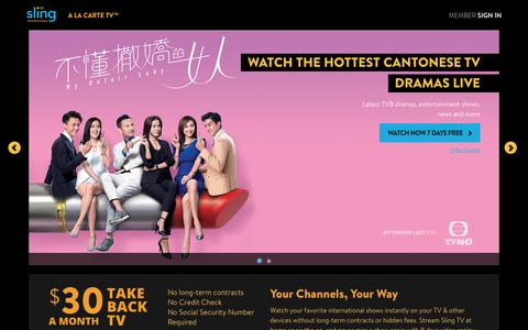 Sling TV - Watch Live Cantonese Channels on the #1 Live International TV provider in the US
