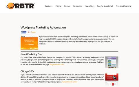 Screenshot of Press Page orbtr.net - Wordpress Marketing Automation - orbtr.net - captured Jan. 12, 2016