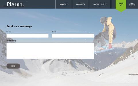 Screenshot of Contact Page nadel.ca - Contact - captured Oct. 19, 2018