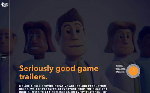 Screenshot of Home Page thetrailerfarm.com - Seriously Good Game Trailers | The Trailer Farm - captured Sept. 24, 2018