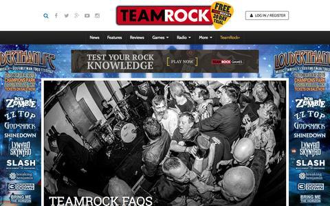Screenshot of FAQ Page teamrock.com - TeamRock - captured July 16, 2015