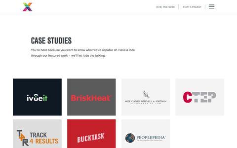 Screenshot of Case Studies Page cynexis.com - Mobile App, Web Design & Development Case Studies - captured March 28, 2017