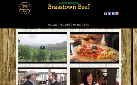 Screenshot of Press Page brasstownbeef.com - Brasstown Beef - Media - captured June 2, 2017