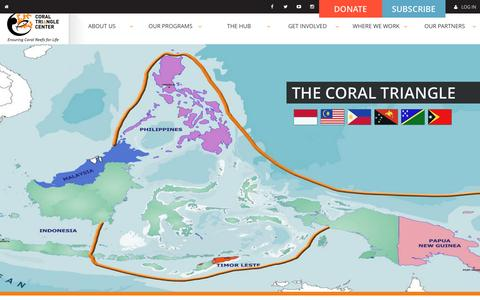 Screenshot of Maps & Directions Page coraltrianglecenter.org - Coral Triangle Center |   Where we work - captured March 1, 2017
