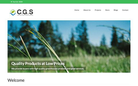 Screenshot of Home Page greenhousesfamily.com - The Plastic Greenhouse for Sale-China Greenhouses Sourcing Co Limited - captured Sept. 20, 2015