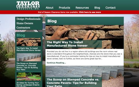 Screenshot of Blog taylorconcrete.com - Blog Archives | Taylor Concrete Products, Inc. - captured Oct. 9, 2014
