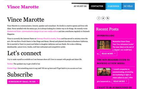 Screenshot of About Page vincemarotte.com - Vince Marotte - Vince Marotte - captured Oct. 2, 2014