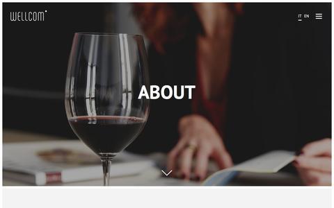Screenshot of About Page wellcomonline.com - Abbiamo più di 25 anni di esperienza nella comunicazione - captured Feb. 18, 2016