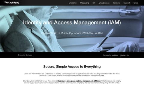 Identity and Access Management from BlackBerry (IAM) - United States