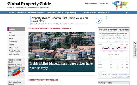 Screenshot of Home Page globalpropertyguide.com - Global Property Guide - captured July 19, 2018