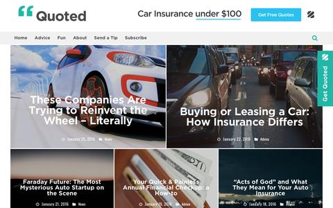 Quoted - An auto insurance publication from The Zebra
