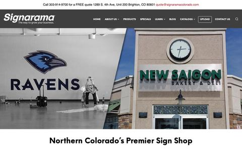 Screenshot of Home Page signaramacolorado.com - Posters & Vehicle Signage Brighton | Brighton, Colorado Sign Company - captured Jan. 31, 2019