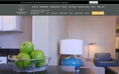 Screenshot of Contact Page thewindsorsuites.com - Center City Philadelphia Hotel Reservations - The Windsor Suites - captured Nov. 19, 2018