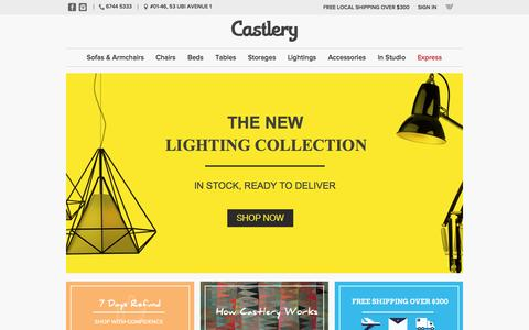 Screenshot of Home Page castlery.com - Designer Furniture Mall and Lighting Online Singapore - Castlery.com - captured Sept. 19, 2014