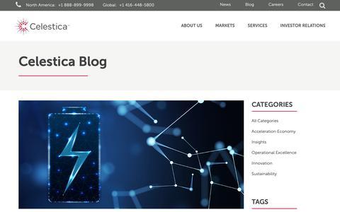 Screenshot of Blog celestica.com - Blog | Celestica - captured April 29, 2019