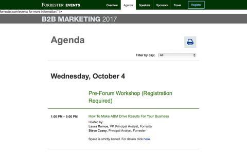 Forrester's B2B Marketing Forum