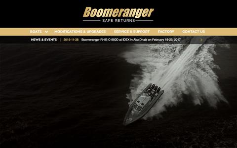 Screenshot of Home Page boomeranger.fi - Boomeranger Boats - captured Jan. 24, 2017