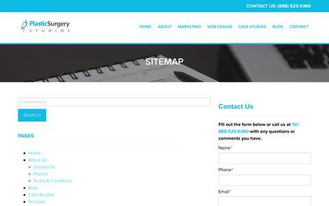 Sitemap   Plastic Surgery Studios