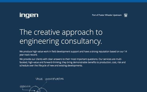 Screenshot of Services Page ingen-ideas.com - Ingen - captured Oct. 6, 2014