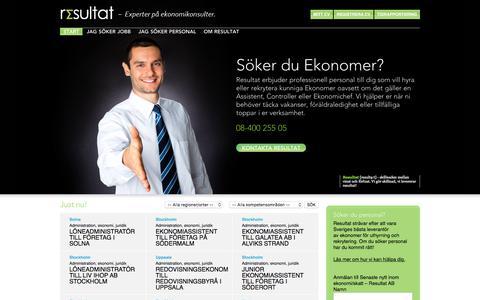Screenshot of Home Page resultatab.se - Start - Resultat - captured Nov. 10, 2017