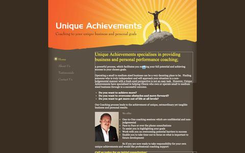 Screenshot of Home Page uniqueachievements.co.uk - Unique Achievements - Home - captured Oct. 23, 2018