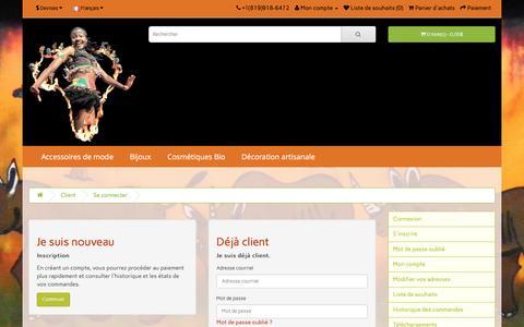 Screenshot of Login Page africa2canada.ca - Connexion au compte - captured Nov. 20, 2016