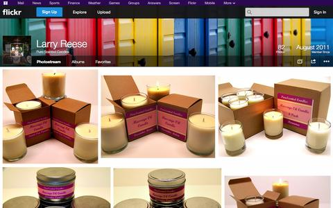 Screenshot of Flickr Page flickr.com - Flickr: Pure Scented Candles' Photostream - captured Oct. 23, 2014