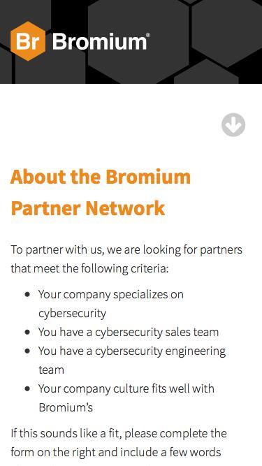 Bromium Partner Network Request Form