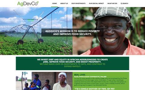 Screenshot of Home Page agdevco.com - AgDevCo - Home - captured Dec. 24, 2015