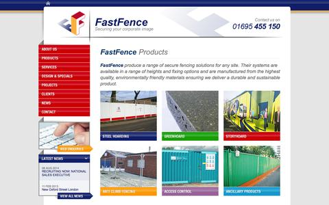 Screenshot of Products Page fastfence.co.uk - Product Range | Secure Fencing Solutions, Environmentally Friendly | FastFence Contracting Ltd - captured Sept. 30, 2014