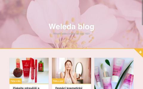 Screenshot of Blog weleda.cz - Weleda blog | Přírodní péče s tradicí od roku 1921 - captured Feb. 14, 2016
