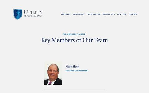 Screenshot of Team Page utilityrefundagency.com - we are here to help — Utility Refund Agency - captured Nov. 3, 2017