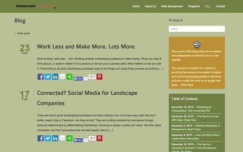 Screenshot of Blog salespeople-on-demand.com - | Salespeople-On-Demand - captured Sept. 30, 2014