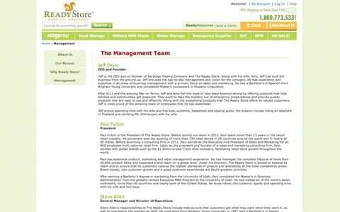 Screenshot of Team Page thereadystore.com - Management - captured Sept. 23, 2014