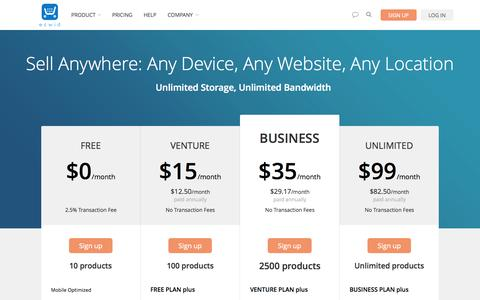 Screenshot of Pricing Page ecwid.com - Ecwid plans and pricing - captured June 16, 2015
