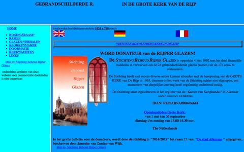 Screenshot of Home Page rijper-glazen.nl - Nieuwe pagina 1 - captured Sept. 27, 2015