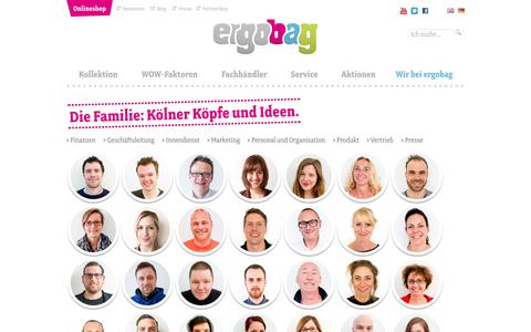 Screenshot of Team Page ergobag.de - Die ergobag-Familieergobag – Schulrucksäcke mit Zukunft! - captured Sept. 24, 2014