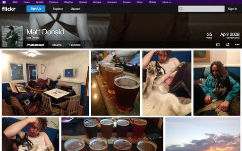 Screenshot of Flickr Page flickr.com - Flickr: Matt Donald's Photostream - captured Oct. 22, 2014