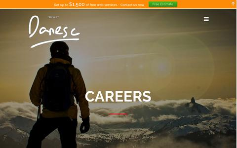 Screenshot of Jobs Page danesc.com - We are always looking for quality talent,  Join our team! | Danesc is your IT Partner. - captured Feb. 8, 2016