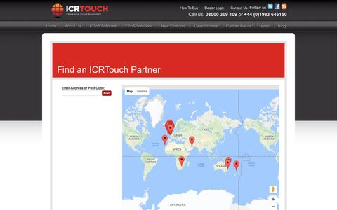 Screenshot of Maps & Directions Page icrtouch.com - Find an ICRTouch Partner | ICRTouch - captured May 26, 2017