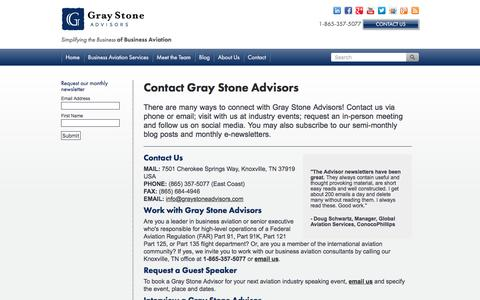 Screenshot of Contact Page graystoneadvisors.com - Contact Gray Stone Advisors - captured Dec. 12, 2015
