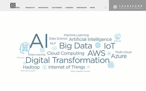 Screenshot of Home Page c3.ai - AI & IoT Software Provider for Digital Transformation - C3.ai - captured June 1, 2019