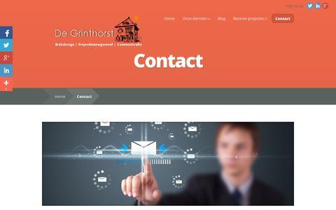 Screenshot of Contact Page degrinthorst.nl - Contact | De Grinthorst - captured Sept. 30, 2014